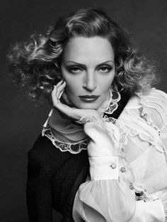 Uma Thurman by Karl Lagerfeld