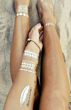 Gold And Silver Flash Tattoos