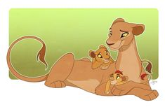 I've been wanting to draw Nala for a while and added Kiara and little Kion as well