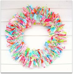 A wreath made from Lilly Pulitzer fabric!