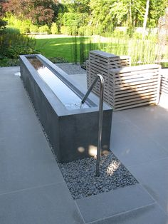 Water feature made by Gray Concrete for Anthony Paul LD