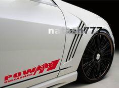 V6 SPORT Vinyl Decal door handle racing car emblem logo skirt sticker SILVER//RED