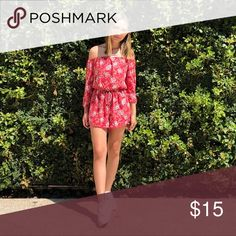 8bbcfa1a Hollister floral romper Red Off the shoulder floral romper perfect for  spring weather Hollister Other