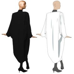 Free Designer Pattern: Patrick Kelly One-Seam Coat Size: One size fits allhttp://www.philamuseum.org/doc_downloads/exhibitions/special/patrickKelly/PKCoatPattern.pdf