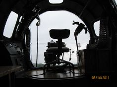 From inside a B-17 bomber...