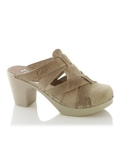 Another great find on #zulily! Beige Nancy Leather Clog Sandal by Calou #zulilyfinds