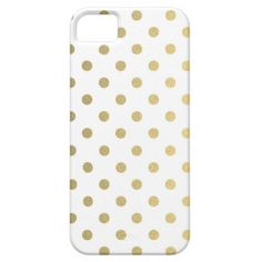 Gold Polka Dots Pattern | Apple iPhone 5/5S Case