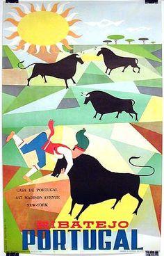 Ribatejo Portugal, by Gustavo Fontura. 1959