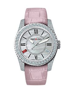 RED8USA Scandal Automatic Crystal, Mother-Of-Pearl, Stainless Steel