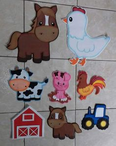 Correo - di.ona.1971@hotmail.com Crafts To Sell, Diy And Crafts, Crafts For Kids, Arts And Crafts, Cowboy Birthday Party, Farm Birthday, Carnival Crafts, Farm Animal Crafts, Activity Sheets For Kids