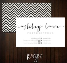 Premade Business Card Set for Photographers and Small Businesses, modern elegant, pretty, texture linen chevron  Ask a Question $15.00 USD
