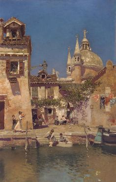 Escena del canal veneciano