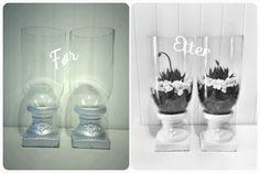 Kubbelysestaker ble til vase for aloe vera