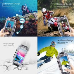 Housing Diving Mobile Phone Shell For iPhone 7 Plus/iPhone 8 Plus Underwater House, Underwater Photos, Iphone 8 Plus, Iphone 7, Iphone Cases, Waterproof Phone Case, Mobile Phone Cases, Drops Design, Summer Activities