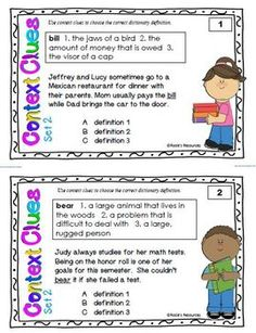 Muktiple meaning words Context Clues Set 2