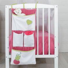 Vide poche de lit bébé fille Princesse & Grenouille fushia #videpoche #lit #bébé #fille