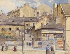 Ernst Graner Dresden, Vienna, Nostalgia, Past, Master Art, Watercolor, City, Painters, Past Tense