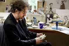 Tim Burton working on Frankenweenie