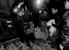 Rescate victima incendio Alcala 20