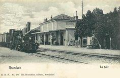 Grandson la gare 1901 Trains, Photos, Street View, Outdoor, Train Station, Outdoors, Outdoor Living, Garden, Train