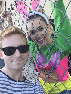 Miley with a fan