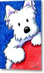 Wendell The Westie Metal Print by Kim Niles westies tattoo, westies cartoon, westies illustrationWendell The Westie Metal Print by Kim Niles Cartoon Drawings, Animal Drawings, West Highland Terrier, Westies, Dog Art, Painted Rocks, Cute Dogs, Art Projects, Illustration Art