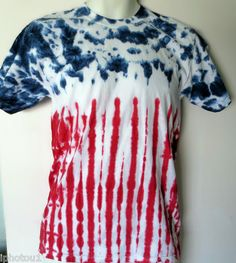 American Flag Tie Dye short sleeved t-shirts.