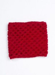 Bergère de France Mag. 05 - #12B Red honeycomb stitch snood