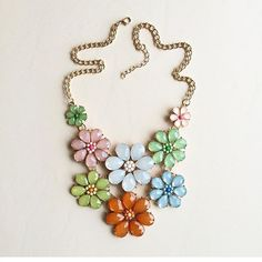 Lovely floral necklace Colorful necklace Hwl boutique  Jewelry Necklaces