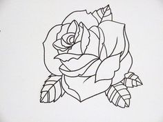 rose outline 3   by Joseph Potter