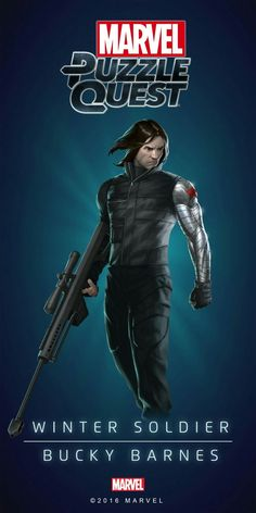 marvel puzzle quest new characters Bucky Barnes Marvel, Marvel Comics Art, Marvel Heroes, Marvel Avengers, Marvel Comic Universe, Comics Universe, Marvel Cinematic Universe, Heros Comics, Comic Book Heroes