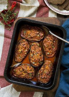 Babushka Eggplants (these look yummy and I would make them without the oil)
