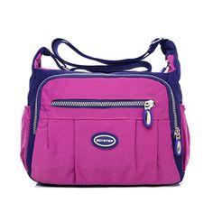 Women Waterproof Nylon Shoulder Bags Multi-pocket Crossbody Bags