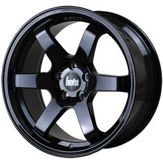 BOLA B1 6-SPOKE CONCAVE STAGGERED alloy wheels with stunning look in JAP STYLE for 5 stud alloy wheel fitment. 8.5J BOLA B1 alloy wheels in GLOSS BLACK finish are great match for most of jap imports and euro looking cars with 18 inch wheel size and 30 45 offset.