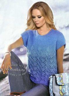 Hand Knitting Yarn, Lace Knitting Patterns, Knit Fashion, Sweater Fashion, Summer Knitting, Beautiful Crochet, Knit Crochet, Sweaters For Women, Obese Women