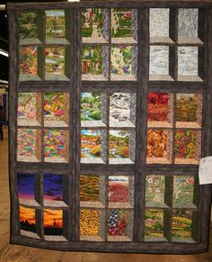Attic windows quilt, love the colors and concept. Description from…