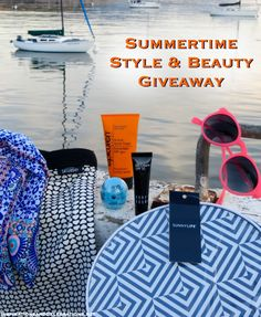 The winner of the Summertime Style & Beauty Giveaway receives a $175 prize package including a 3-way tote bag from Kate Spade Saturday, EOS Lip Balm, Bobbi Brown Cosmetics BB Cream with SPF 35, H&M Scarf, Epicuren Discovery Active Sport SPF 30+ Sunscreen, Sunnylife Beach Paddles, and Hot Pink Sunglasses. #giveaways #style #beauty