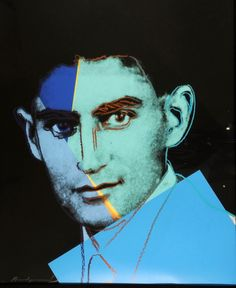 artwork: Andy Warhol - Franz Kafka from Ten Portraits of Jews, Synthetic polymer paint and silk-screen ink on canvas, 40 x 32 in. © 2008 Andy Warhol Foundation for the Visual Arts/ARS, New York Courtesy Ronald Feldman Fine Arts Andy Warhol Pop Art, Andy Warhol Marilyn, Andy Warhol Portraits, Andy Warhol Artist, Roy Lichtenstein, Arte Pop, James Rosenquist, Modern Art, Contemporary Art