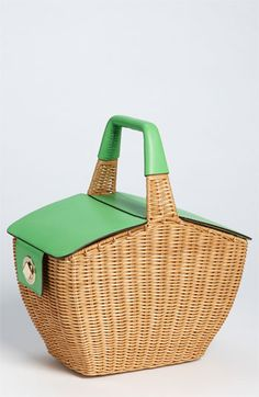.Kate Spade wicker picnic basket.           t