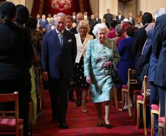 Camilla Parker Bowles Photos - Queen Elizabeth II, Prince Charles, Prince of Wales and Camilla, Duchess of Cornwall. attend the formal opening of the Commonwealth Heads of Government Meeting (CHOGM) in the ballroom at Buckingham Palace on April 18, 2018, in London, England. - CHOGM London 2018 - Day 4
