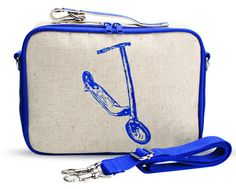 Blue Scooter Soft Lunch Box by So Young | Durable, insulated, and a fantastic buy for back to school