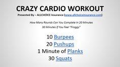 ALLCHOICE Insurance Presents the Crazy Cardio Workout