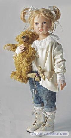 Bettina 2011 resin doll by  by Hildegard Gunzel