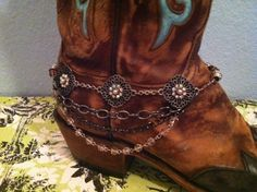 Boot Bling/Boot Jewelry Triple Chain/Light Purple/Pink
