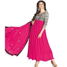 Sushmita Sen Pink Georgette Anarkali Salwar Suit 11006