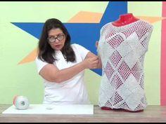 Cristina Amaduro - Regata de quadradinhos em crochê