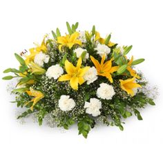Exclusive fresh asiatic lilies and carnations designer round ararngement  - Send this exclusive gift to your loved ones through us