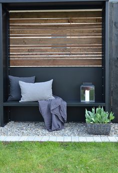 Outdoor Sofa, Outdoor Spaces, Outdoor Living, Outdoor Decor, Indoor Garden, Outdoor Gardens, Home And Garden, Garden Modern, Modern Fence