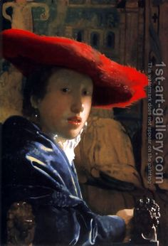 Girl With A Red Hat by Jan Vermeer Van Delft