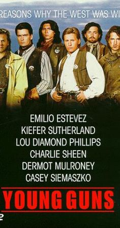 Directed by Christopher Cain.  With Emilio Estevez, Kiefer Sutherland, Lou Diamond Phillips, Charlie Sheen. A group of young gunmen, led by Billy the Kid, become deputies to avenge the murder of the rancher who became their benefactor. But when Billy takes their authority too far, they become the hunted.